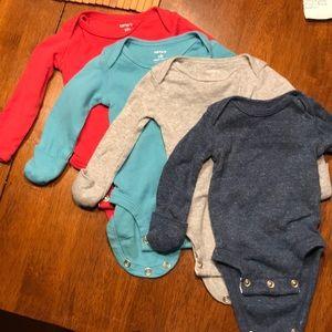 Set of 4 newborn longsleeves